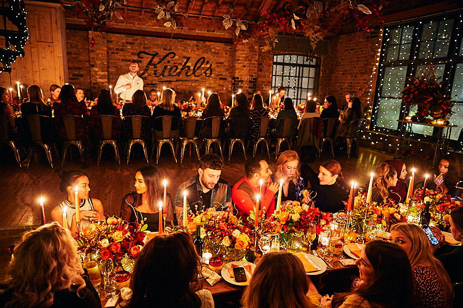 Keihl's Thanksgiving dinner event for press and influencers