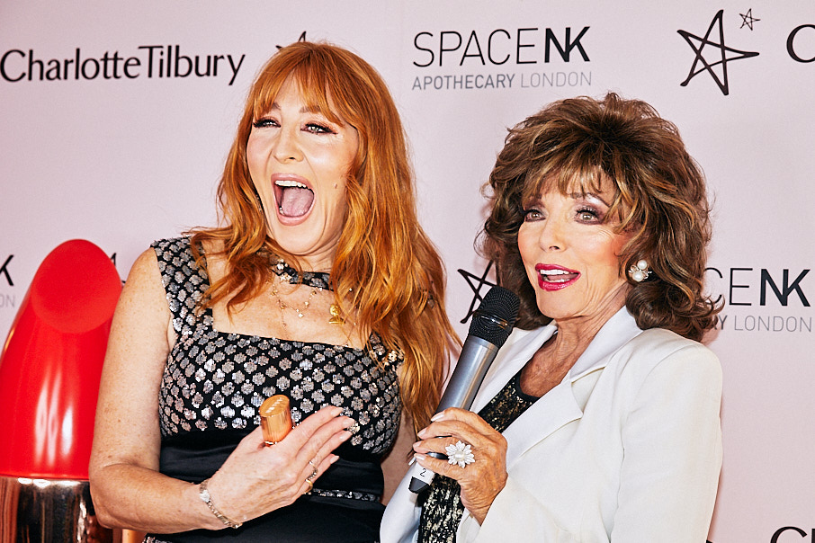 Charlotte Tilbury and Joan Collins at Space NK launch event