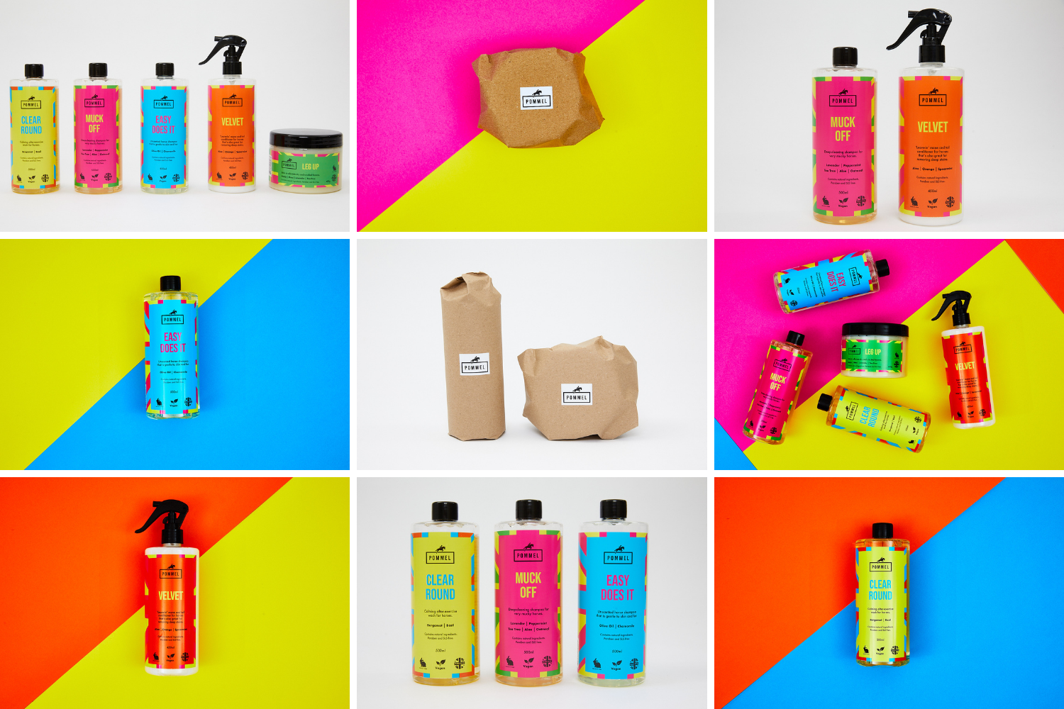 Brightly coloured product photography by Jon Bradley