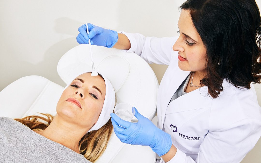 female client having face fillers